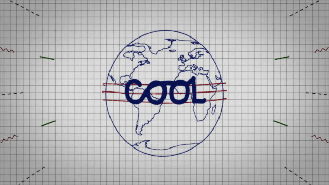 animated graphic showing a globe being drawn on a piece of graph paper with the word 'cool' appearing in it's centre. - graph paper stock videos & royalty-free footage