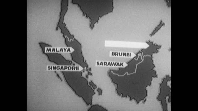 animated graphical map of federation of malaysia states; 1962 - identity politics stock videos & royalty-free footage