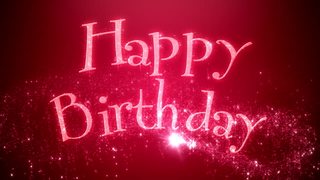 animated happy birthday message red - birthday stock videos & royalty-free footage