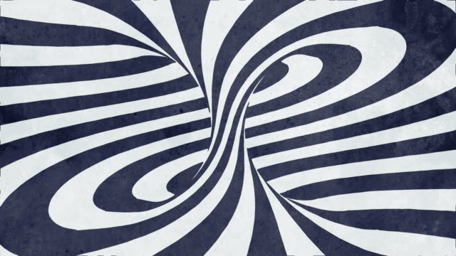 animated hypnotic rotation spiral with white and black lines. digital seamless loop animation. 3d rendering. 4k, ultra hd resolution - horse family stock videos & royalty-free footage