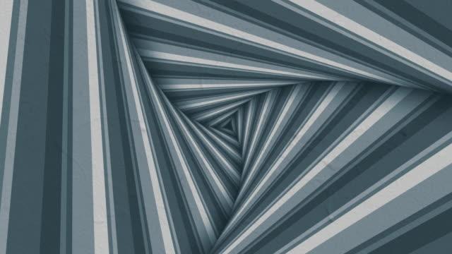 animierter hypnotischer tunnel mit monochromen streifen. digitale 3d-render-nahtlose loop-animation. 4k, ultra hd auflösung - maßwerk stock-videos und b-roll-filmmaterial