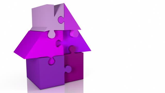 ジグソーハウスウィンタースキーパッケージアニメーションループピンクの色合いが、カメラアングル(2 )