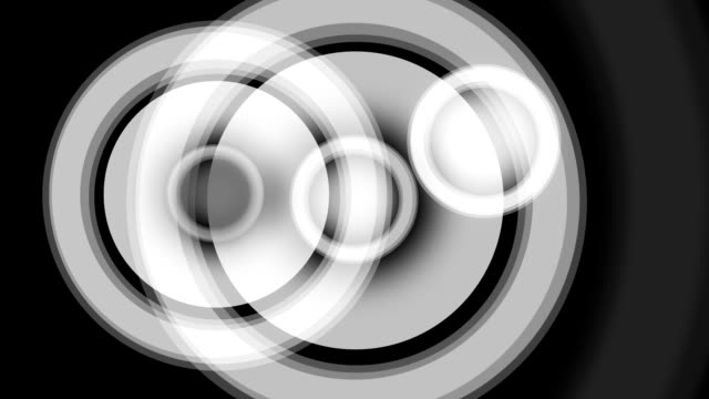 animated loudspeakers symbol in black and white for backgroud - rythm stock videos and b-roll footage