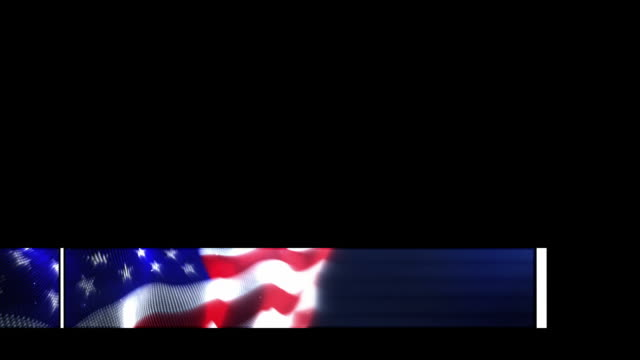 animated lower third - the american flag (with alpha channel) - patriotism stock videos & royalty-free footage