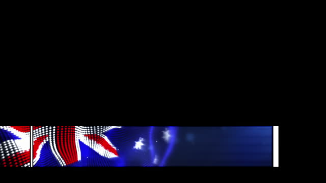 Animated Lower Third - The Australian Flag (with alpha)