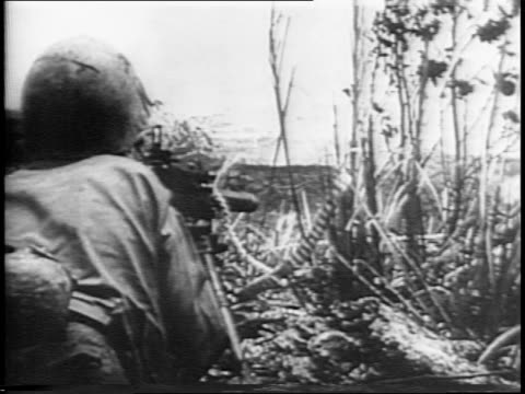 animated map / aerial view of manila / american flag flies on building / general douglas macarthur walks with soldiers / soldiers run on field /... - general macarthur stock videos and b-roll footage