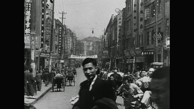 wwii animated map highlights chungking as new capital of china and work begins preparing the city for war - chiang kai shek stock-videos und b-roll-filmmaterial