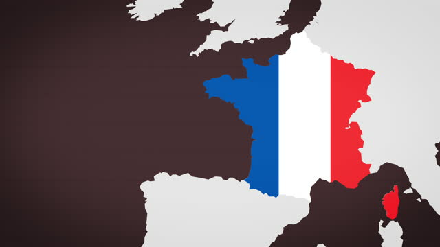 animated map of france with dark red background - politics icon stock videos & royalty-free footage