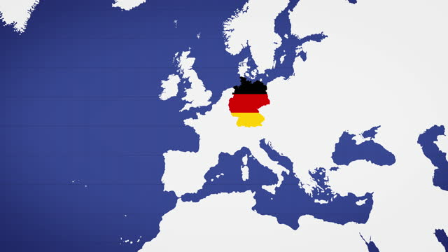 animated map of germany with blue background - politics icon stock videos & royalty-free footage