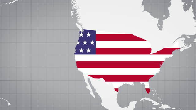 animated map of the usa with white background - politics icon stock videos & royalty-free footage