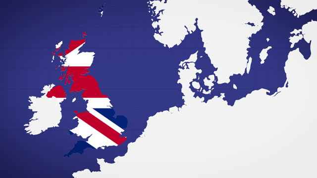 animated map of uk with blue background - royalty stock videos & royalty-free footage