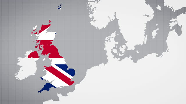 animated map of uk with white background - international politics stock videos & royalty-free footage