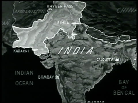 map animated map showing proposed division on india - westbengalen stock-videos und b-roll-filmmaterial