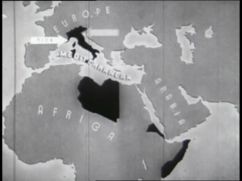animated maps illustrate plans for world domination by the fascists, nazis, and the japanese. - domination stock videos & royalty-free footage