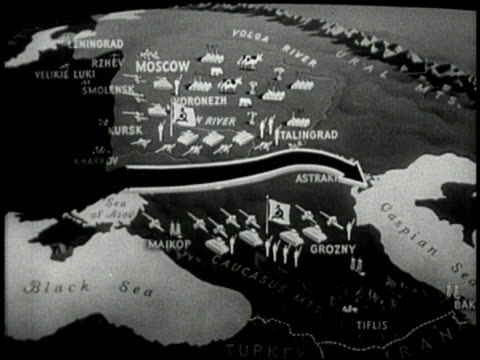 Animated maps of German conquest of Russia German troops moving through Russia Russian recruits