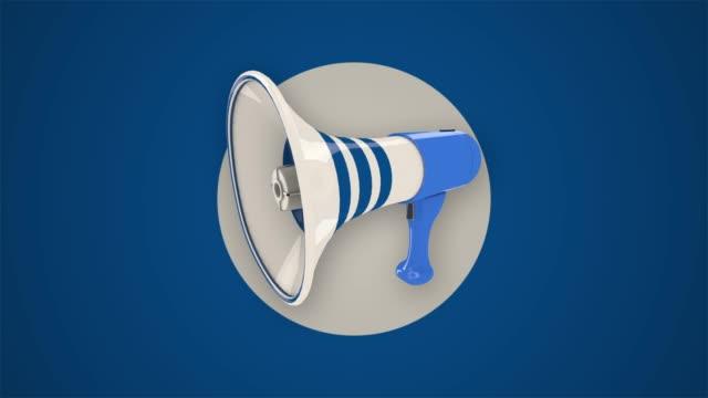 animated megaphone - megaphone stock videos & royalty-free footage