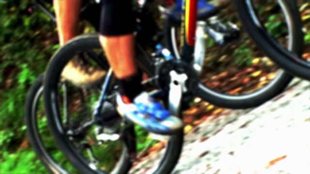 hd: animated mountain bikers - digital enhancement stock videos & royalty-free footage