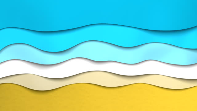 animated paper backgrounds (loop 4k). cartoon nature. - wave stock videos & royalty-free footage