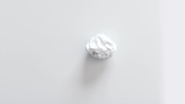 animated paper ball - crumpled paper stock videos and b-roll footage