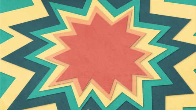 animated paper cut explosion looping background - stop motion animation stock videos & royalty-free footage