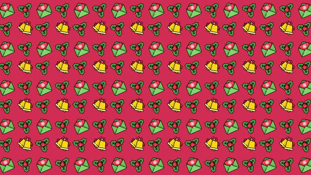 animated pattern with christmas icons - candy cane stock videos & royalty-free footage