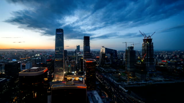 animated picture with cinemagraph effect of downtown beijing at night / beijing, china - cinemagraph stock videos & royalty-free footage