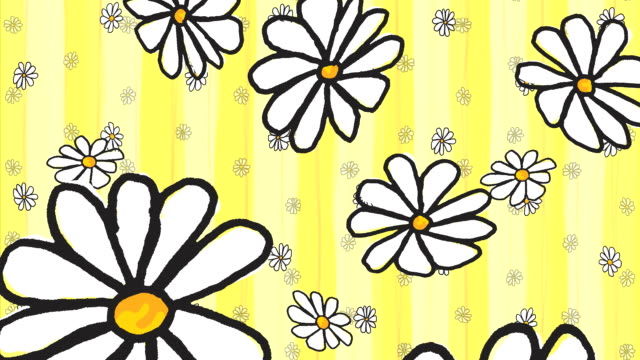 animated raining spring daisy background 3 sets/colors (loopable) - wallpaper stripper stock videos and b-roll footage