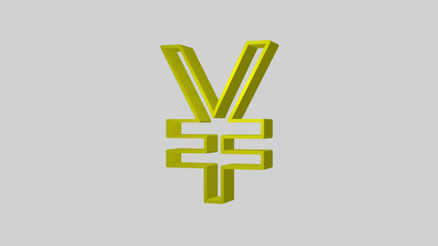 animated sequence showing a gold japanese yen symbol revolving. - yen symbol stock videos & royalty-free footage