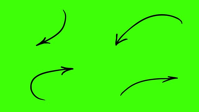 vídeos de stock e filmes b-roll de animated sketches - arrows - arrow symbol