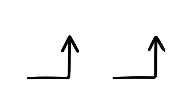 animated sketches - arrows - arrow symbol stock videos & royalty-free footage