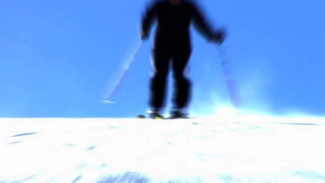 hd loop: animated skiing - slalom skiing stock videos & royalty-free footage