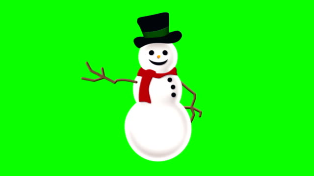 animated snowman on green screen - snowman stock videos & royalty-free footage