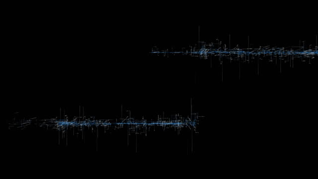 Onda de sonido pantalla - resolución de 4 K de animación CG