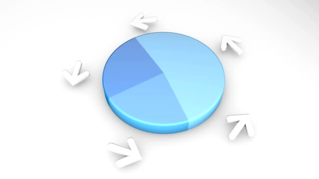 hd: animated spinning pie chart - pie chart stock videos & royalty-free footage