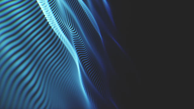 animated technology background with futuristic wave pattern - colour gradient stock videos & royalty-free footage