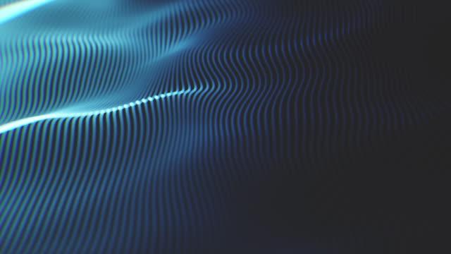 animierter technologiehintergrund mit futuristischem wellenmuster - farbverlauf stock-videos und b-roll-filmmaterial