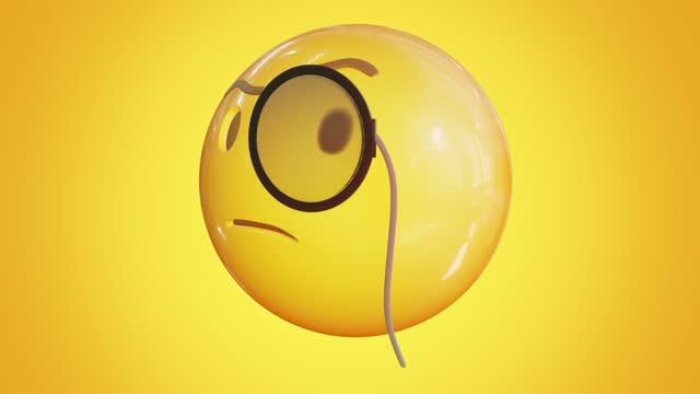 stockvideo's en b-roll-footage met animated thinking emoji. emoticon stock video. 3d render. seamless loopable. isolated background. - dierenkop