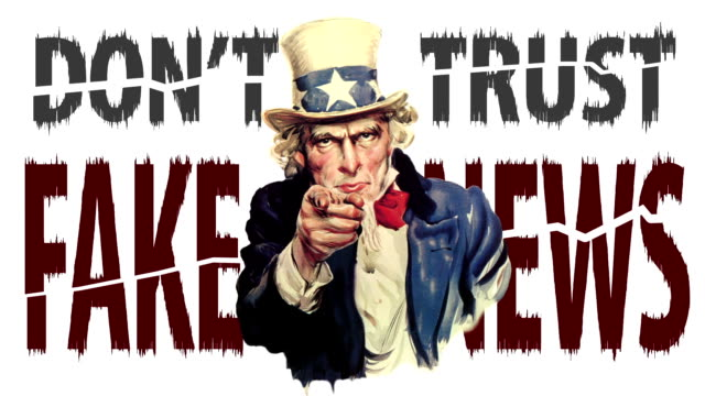 """animated uncle sam talking: """"don't trust fake news"""" - uncle sam stock videos & royalty-free footage"""
