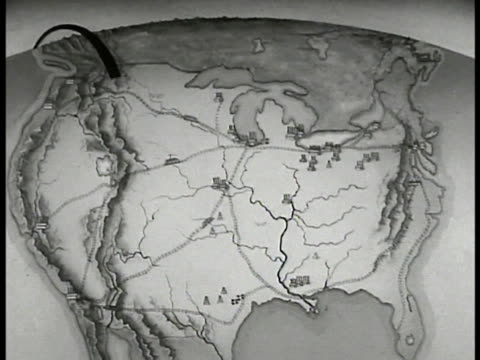 animated united states map arrows indicating vulnerable points of country alaska through canada north atlantic into st. lawrence valley from west... - vulnerability stock videos & royalty-free footage