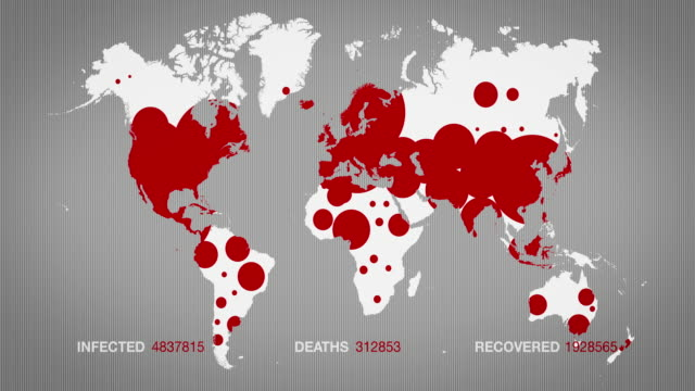 animated white map of the expantion of covid-19 - two version. 4k - medical insurance stock videos & royalty-free footage