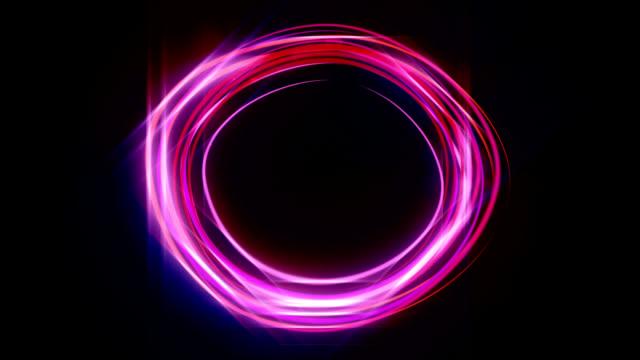 Animazione di neon cerchio HD