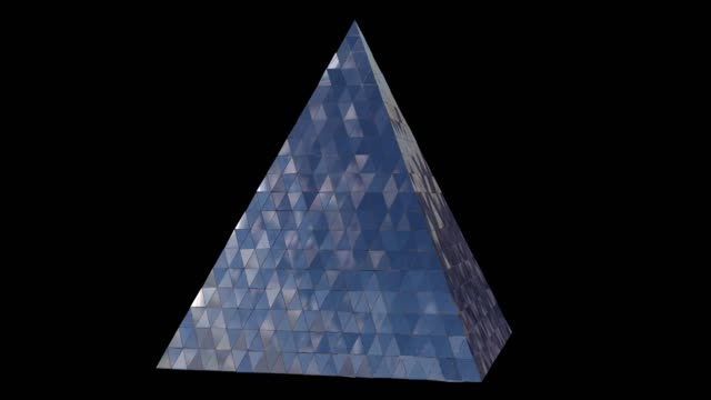 vidéos et rushes de 3d animation abstract pyramid. abstract 3d rendering of geometric shapes. - stone object