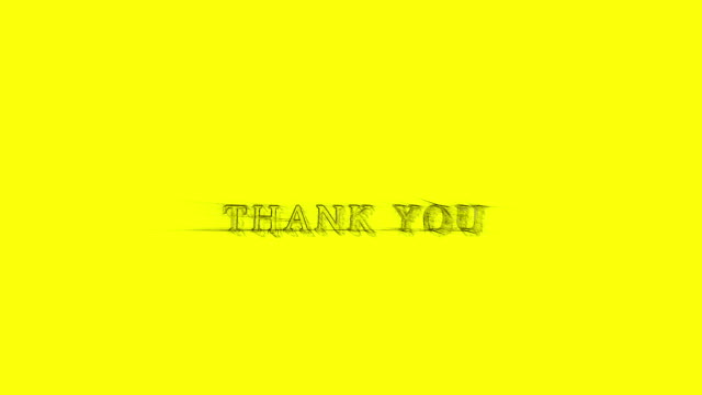 animation banner thank you sketchy shaky text yellow background - thank you stock videos and b-roll footage
