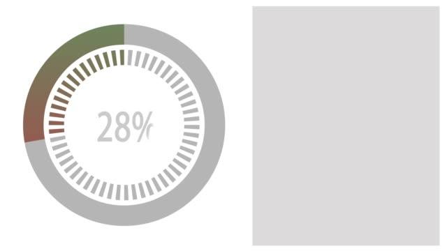 animation black loading bar, 0-100 percent. - loading screen stock videos & royalty-free footage