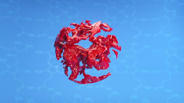 3d animation blood world - morphing stock videos & royalty-free footage