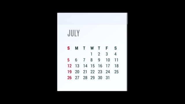 Animation Kalender fliegenden alpha-Karte