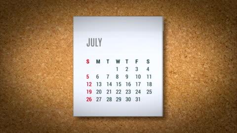 animation calendar flying - alpha map - 2015 stock videos & royalty-free footage