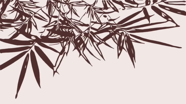 animation cartoon , bamboo tree sway with the wind - bamboo plant stock videos and b-roll footage