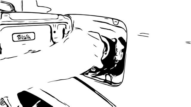 animation cartoon sketch , filled fuel into car - fuel pump stock videos & royalty-free footage