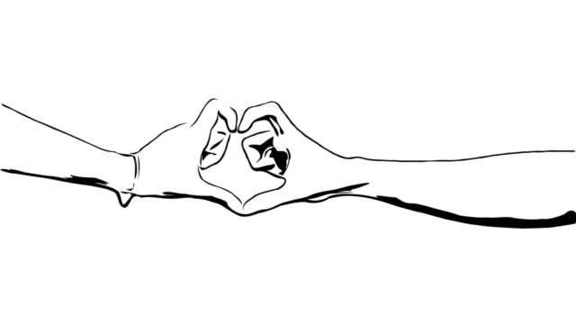 Animation cartoon sketch , Heart Sign by couple lover